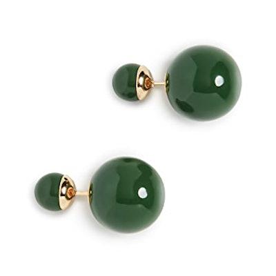Shashi Verde Double Ball Earrings