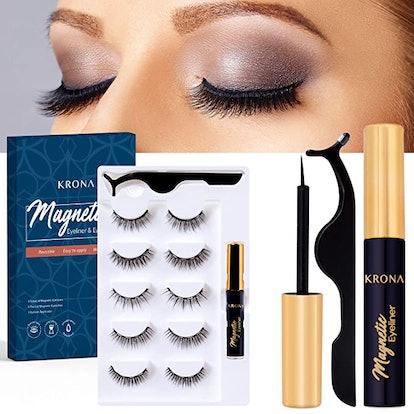 KRONA Magnetic Eyelashes & Eyeliner Kit