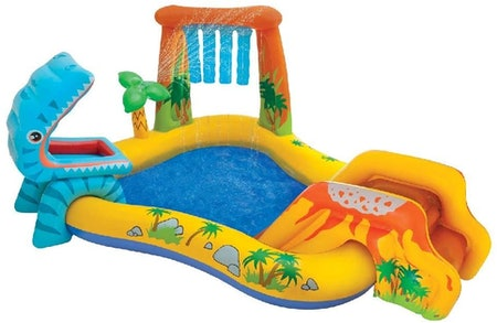 Intex Dinosaur Inflatable Play Center, 98in X 75in X 43in