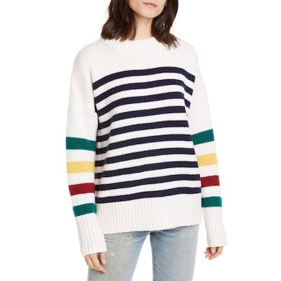 La Ligne Multi Stripe Marin Wool & Cashmere Sweater