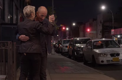 Leonard and his date in 'Dating Around' Season 1