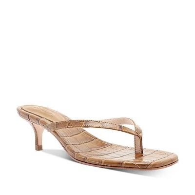 Schutz Ivone Slip On Mid-Heel Thong Sandals