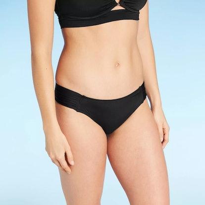 Kona Sol Women's Medium Coverage Tab Hipster Bikini Bottom
