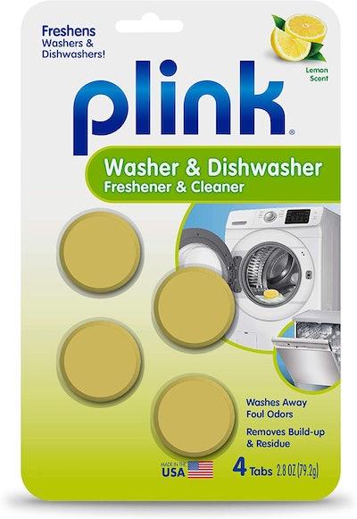 Plink Washer and Dishwasher Freshener & Cleaner (4 Uses)