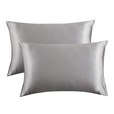 Bedsure Satin Pillowcase for Hair and Skin, 2-Pack - Queen Size