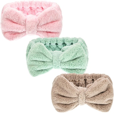 Hicarer Microfiber Bowtie Headbands (3-Pack)