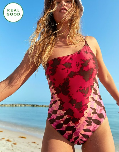 Aerie One Shoulder One Piece Swimsuit