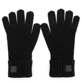 Gloves Damier Cashmere