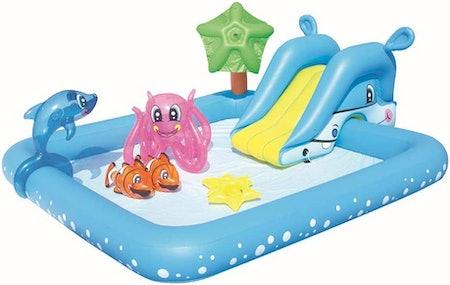 Inflatable Spray and Slide Pool