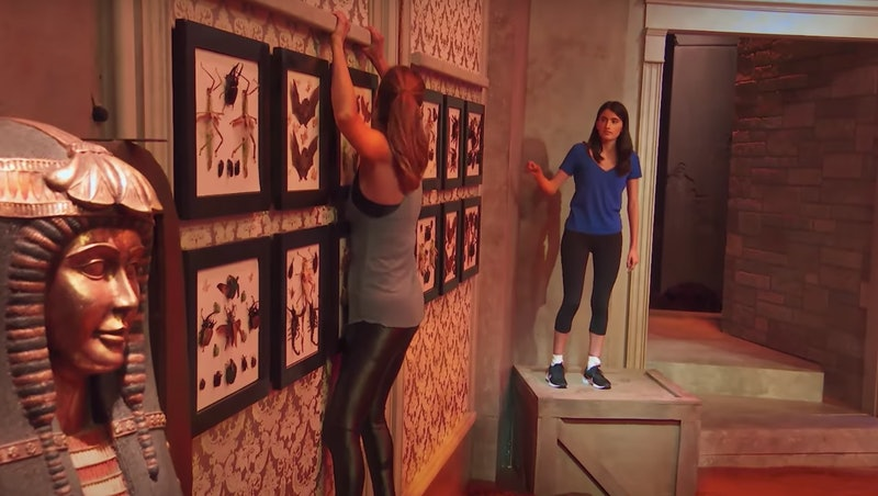 A contestant in 'Floor Is Lava,' screenshot via YouTube