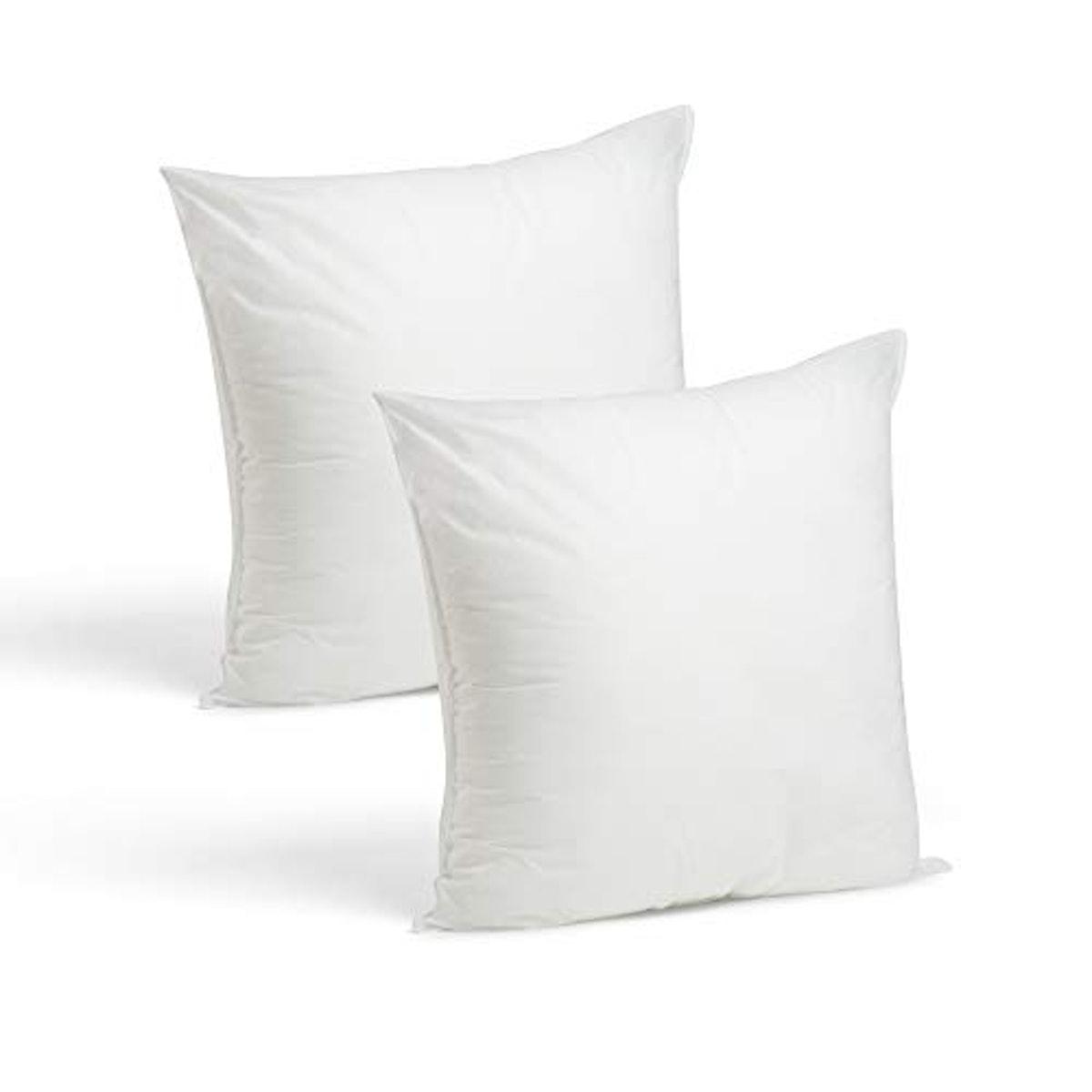 Set of 2-18 x 18 Premium Hypoallergenic Stuffer Pillow