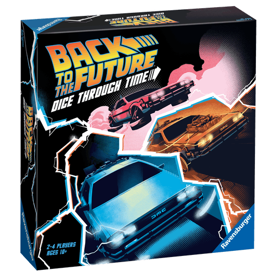 A picture of a black box with Back To The Future Images on top.