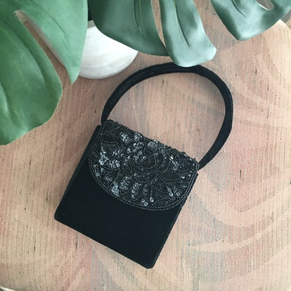 Another Minimalist Sequin Velvet 90s Mini Shoulder Bag