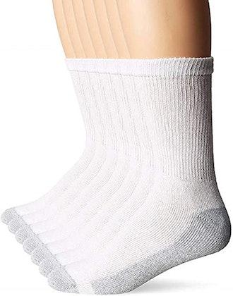 Hanes Men's FreshIQ X-Temp Comfort Cool Crew Socks (6-Pack)