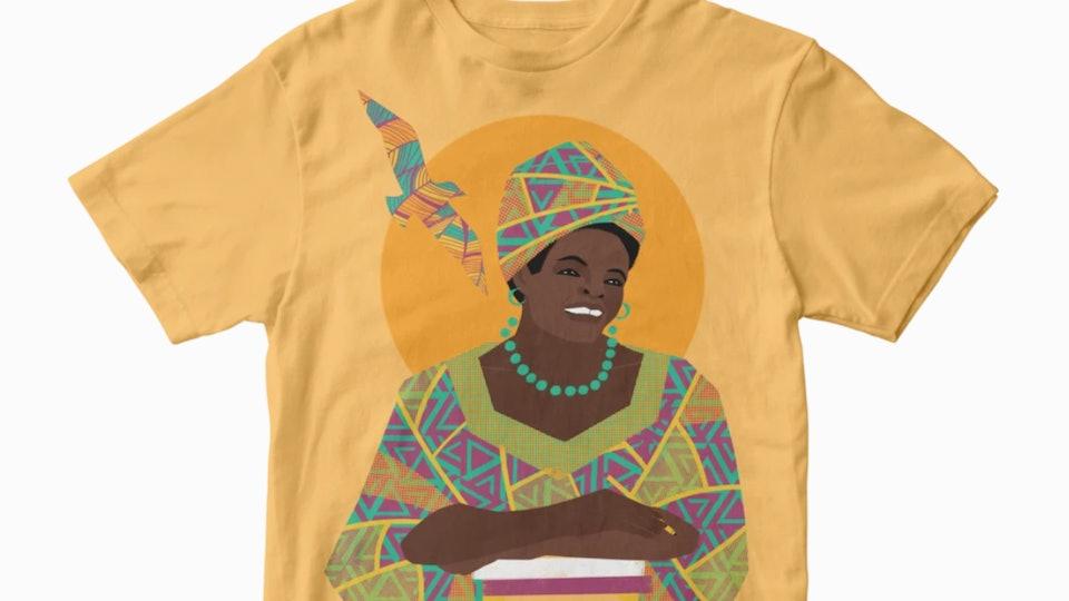 Trailblazer Tees from Piccolina feature inspirational women like Maya Angelou.