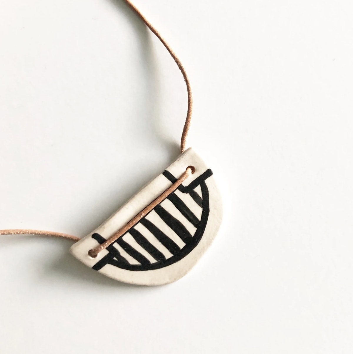 Black Pepper Paperie Co. Smile First Necklace