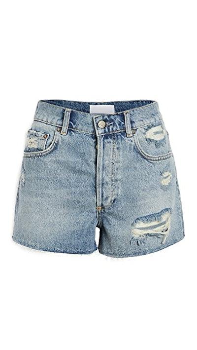 The Cody High Rise Rigid Cut Off Shorts
