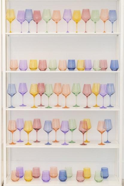 Estelle Colored Wine Stemless Glasses — Set Of 6