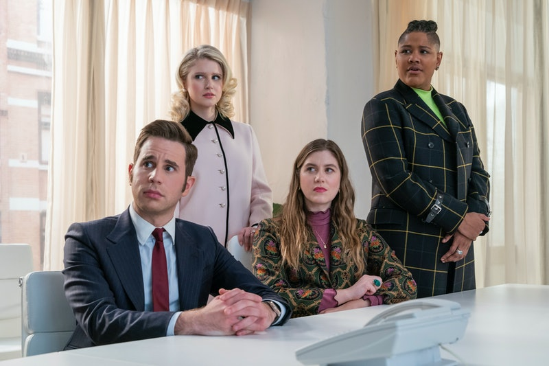 Payton and his team in The Politician Season 2 learn they tied with Dede, via Netflix press site.