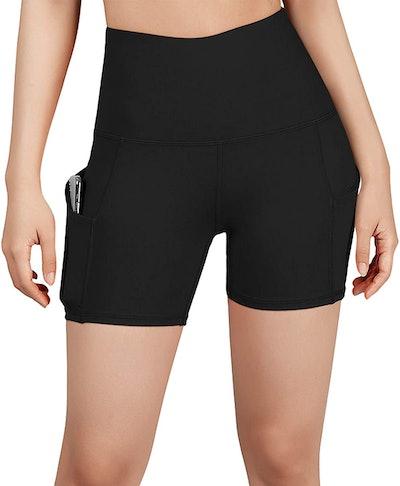 ODODOS High-Waisted Yoga Shorts