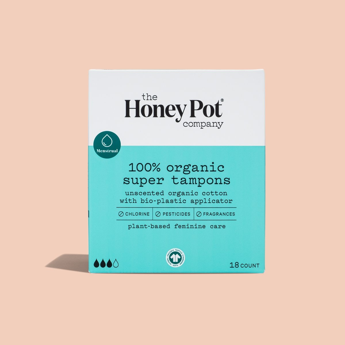 The Honey Pot 100% Organic Super Tampons