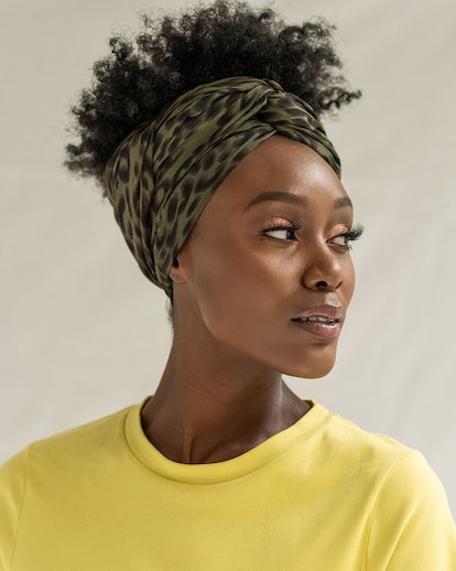 The Wrap Life Forest Leopard Head Wrap