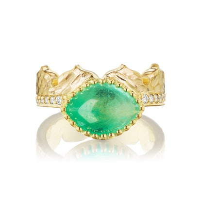 East-West Marquise Agra Crown Ring