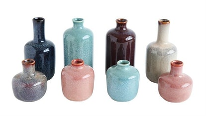 Peace & Riot Stoneware Vases, Set Of 8