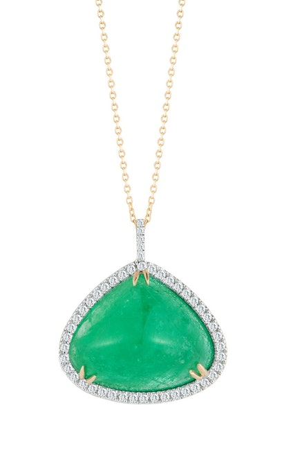 14K Gold Emerald Necklace