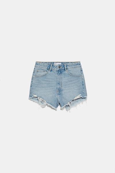 Hi Rise Denim Shorts