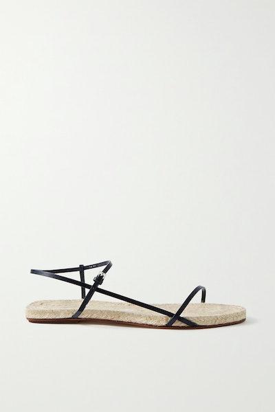 Bare Leather Espadrille Sandals