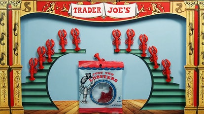 Trader Joe's Just The Lobster gummy candy come in a red berry flavor.