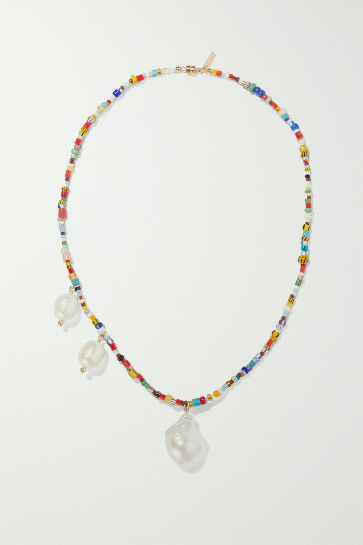 Paxi Gold-Tone, Pearl and Bead Necklace