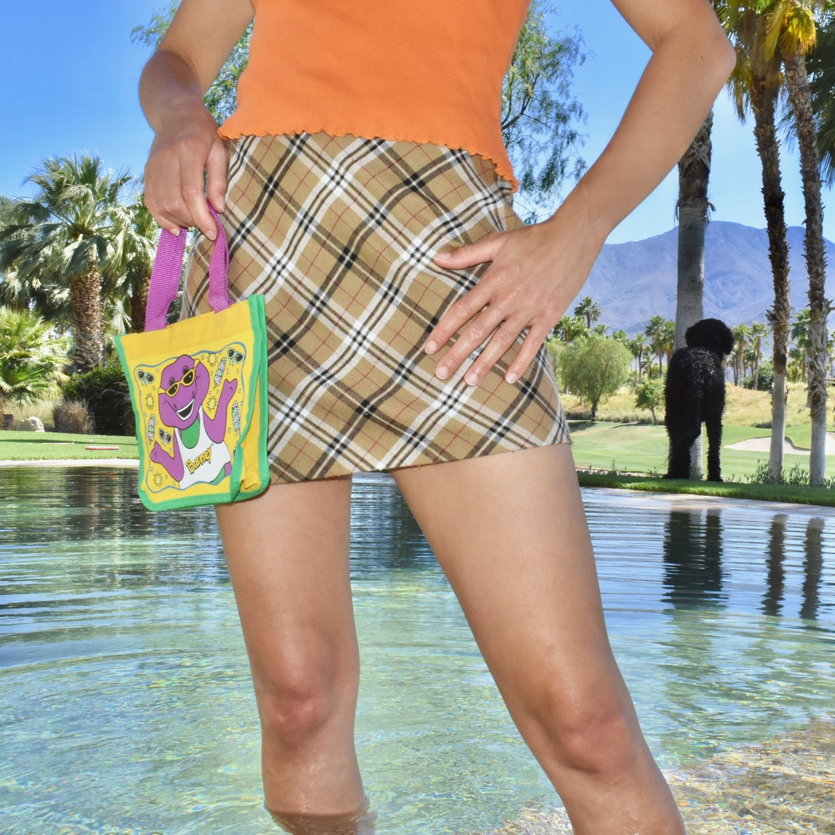 @chyrenee Milk Chocolate & Black Licorice Plaid Skirt