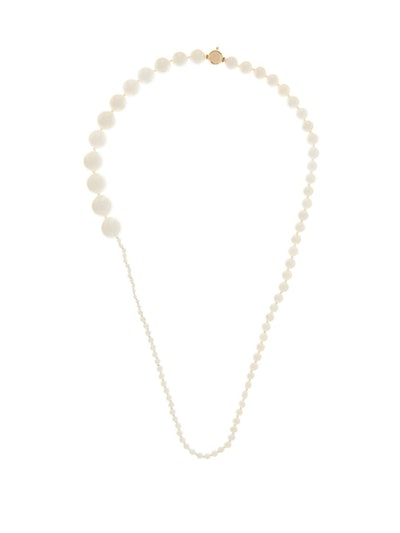 Peggy Pearl & 14kt Gold Necklace