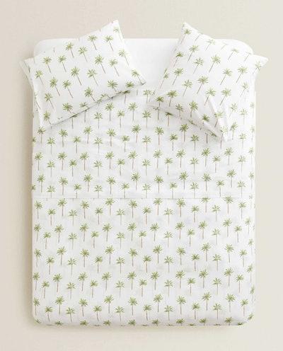Palm Tree Print Duvet Cover