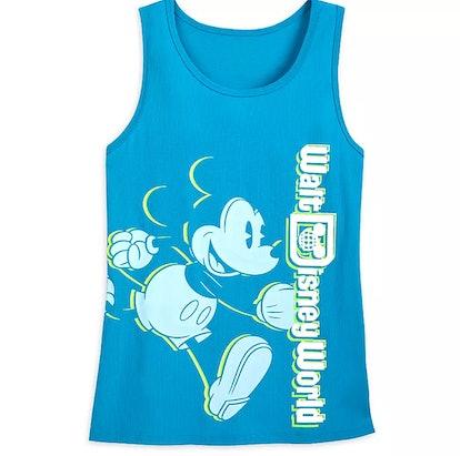 Mickey Mouse Neon Tank Top for Women – Walt Disney World – Blue