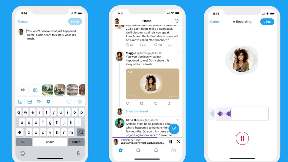 Twitter's newest audio tweet feature lets you record up to 140 seconds of audio.