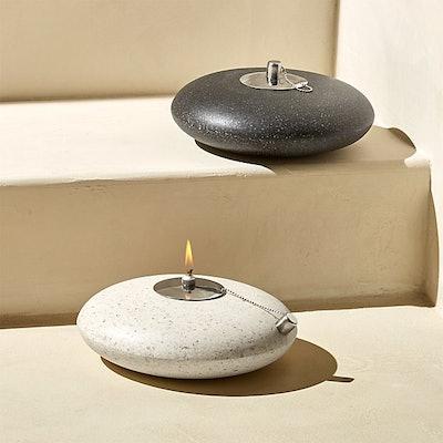Polyterrazzo Faux Stone Oil Lamp