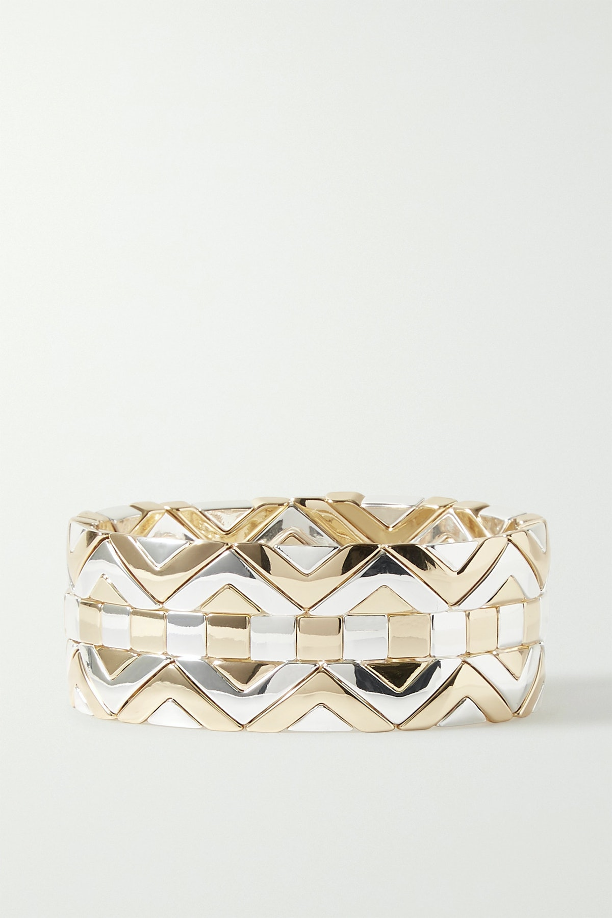 Raise The Bar Set of Three Gold and Silver-Tone Bracelets