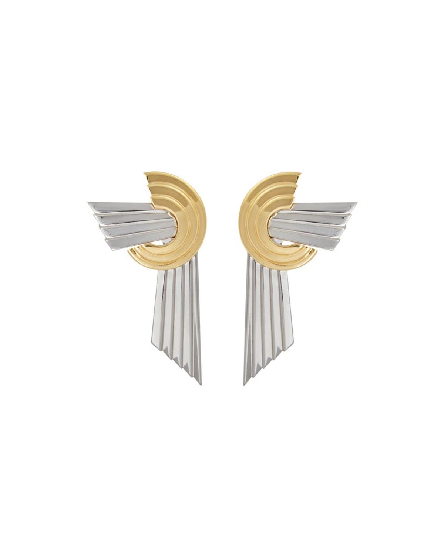 Meryl Palladium and Gold-Plated Earrings