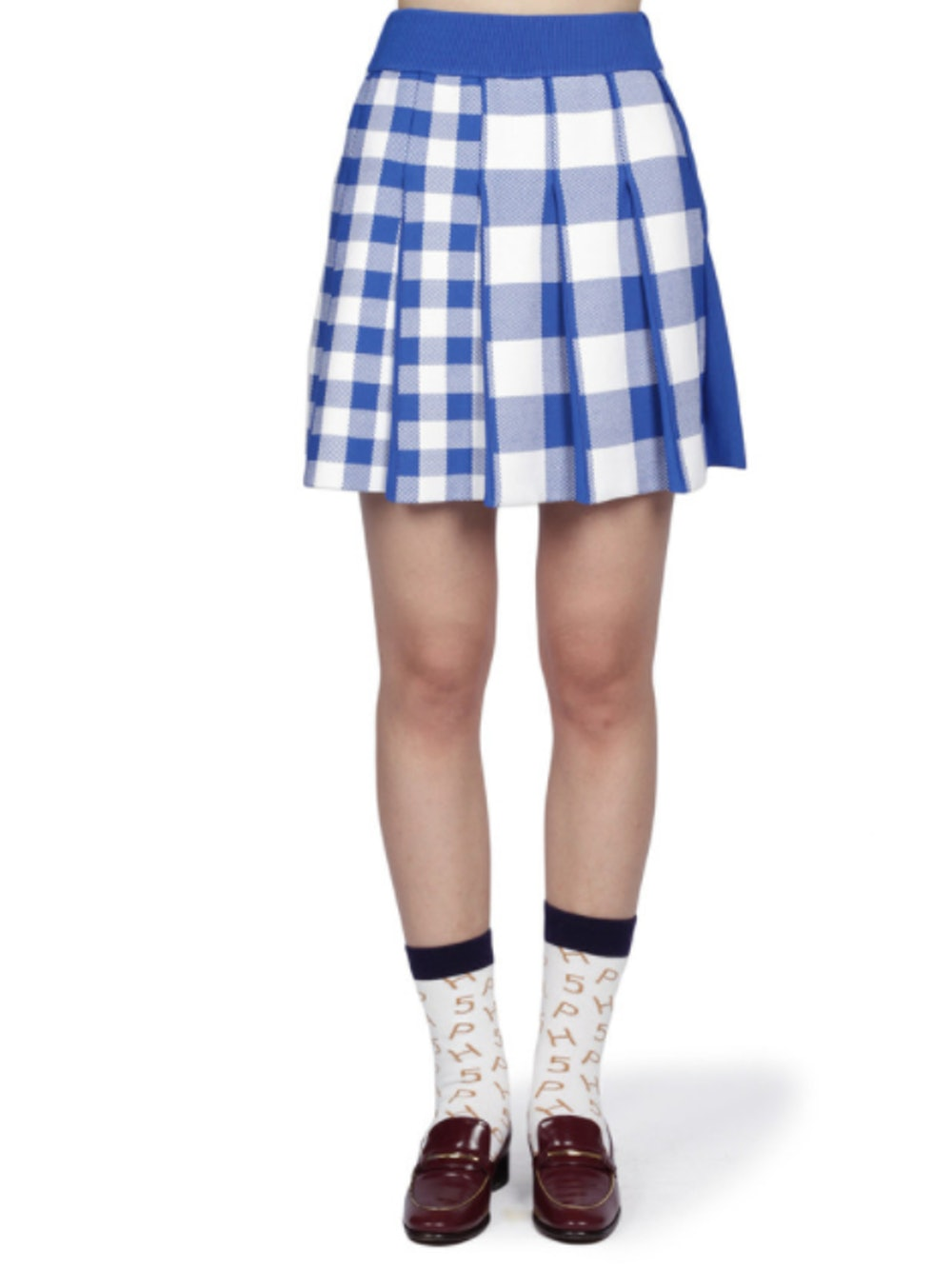 Barbara Pleated Mini Skirt - Electric Blue