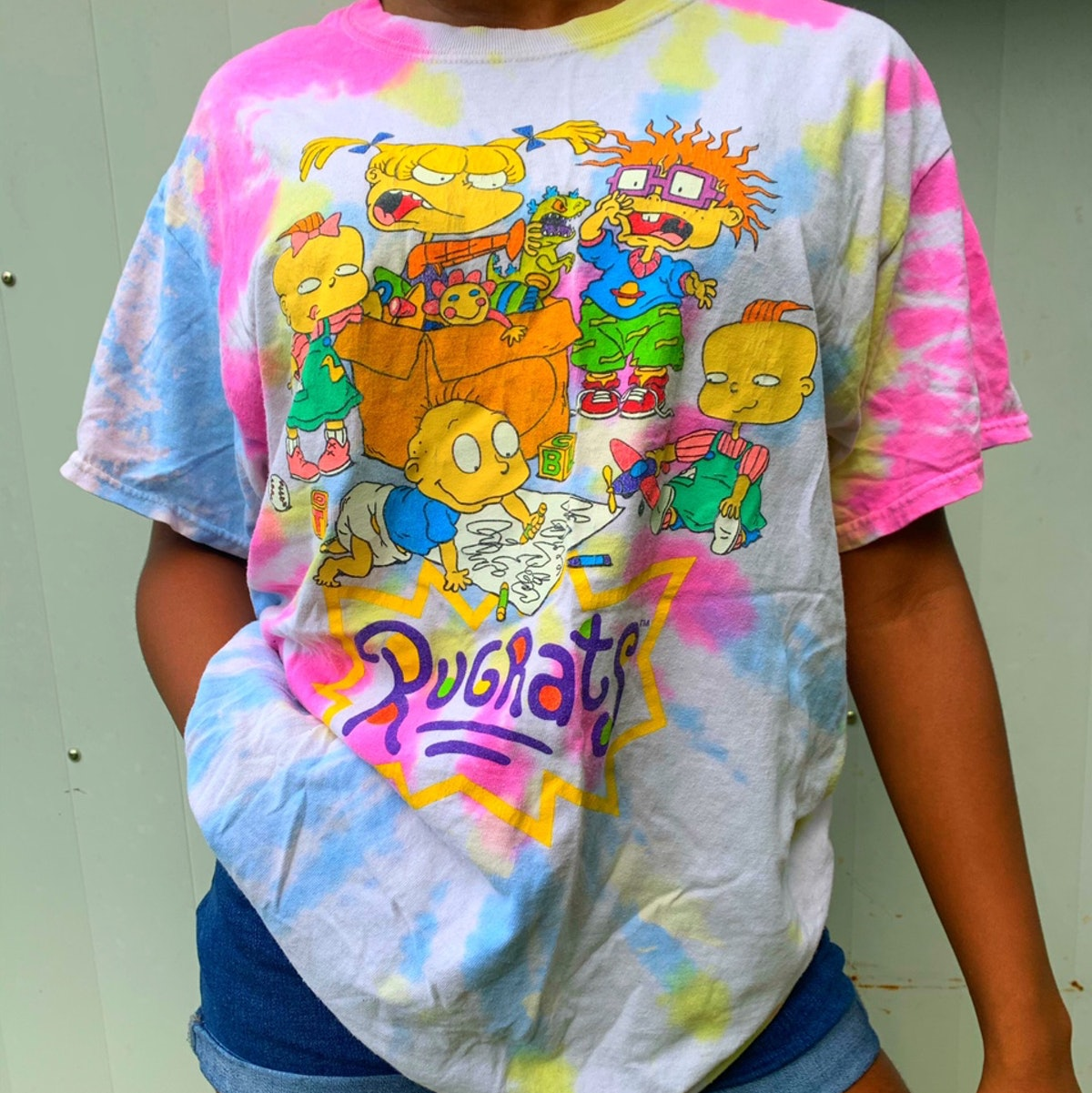 @chibrokemyheart 'Rugrats' Tie-Dye Shirt