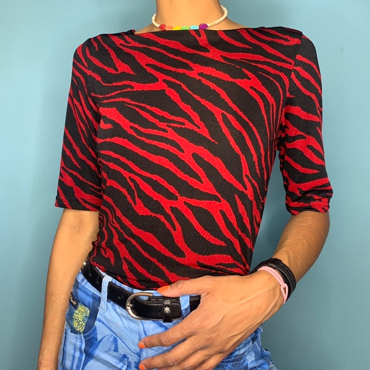 @mothcloudz Red Zebra Tee