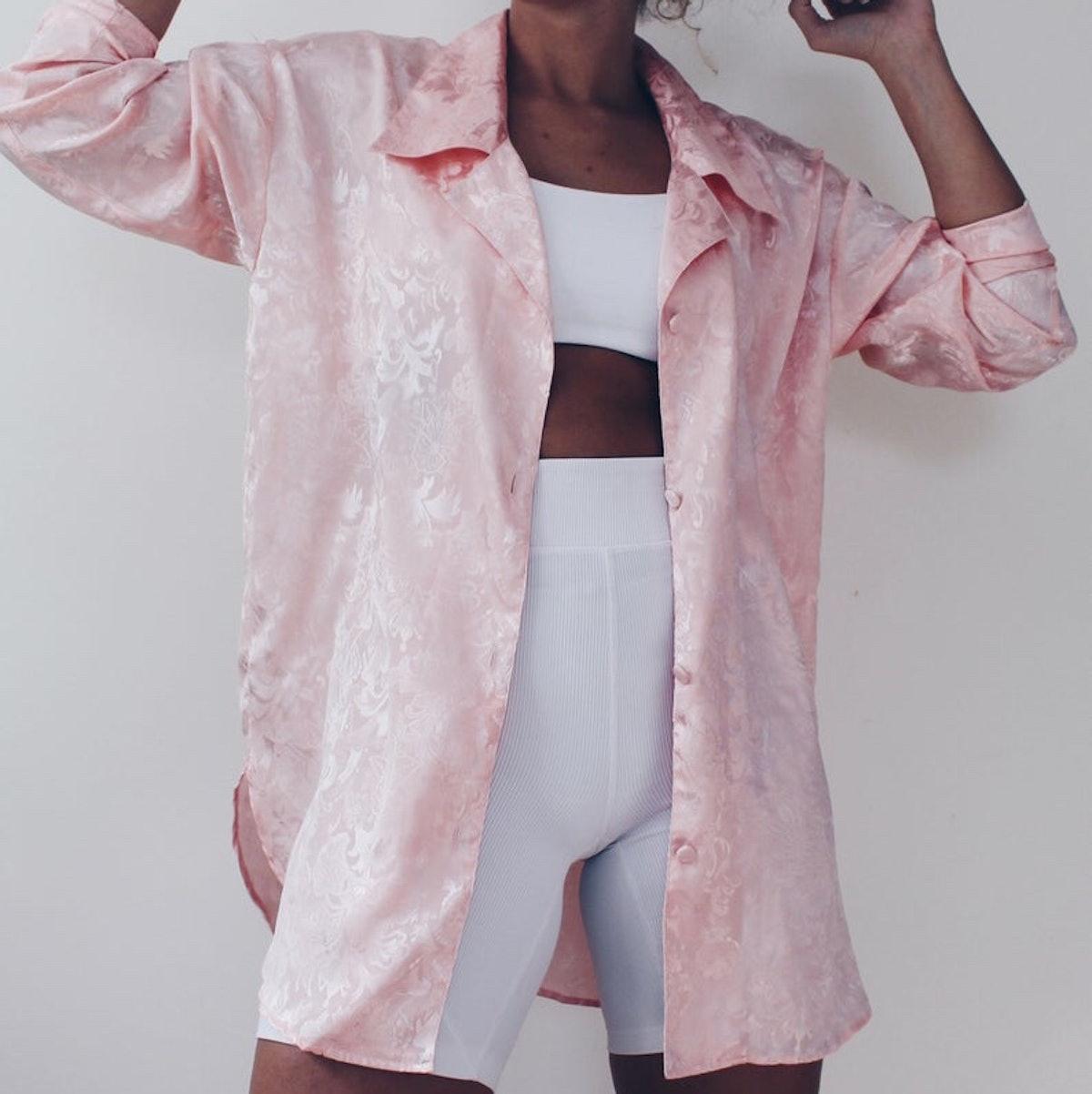 @dustedwonders Pink Silky Blouse