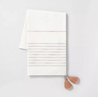 Open Stripe Throw Blanket