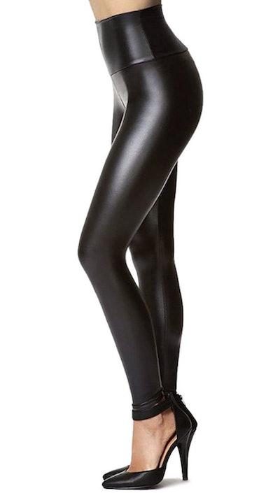 Tagoo Stretchy Faux Leather Leggings