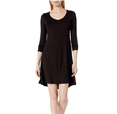 Daily Ritual Women's Jersey Long-Sleeve V-Neck Dress
