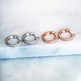 PAVOI Cubic Zirconia Cuff Earrings