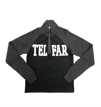 Half-Zip Knit Turtleneck Sweater